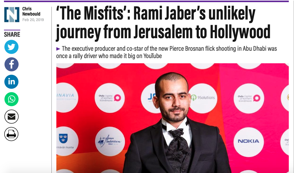 The Misfits': Rami Jaber's unlikely journey from Jerusalem to Hollywood